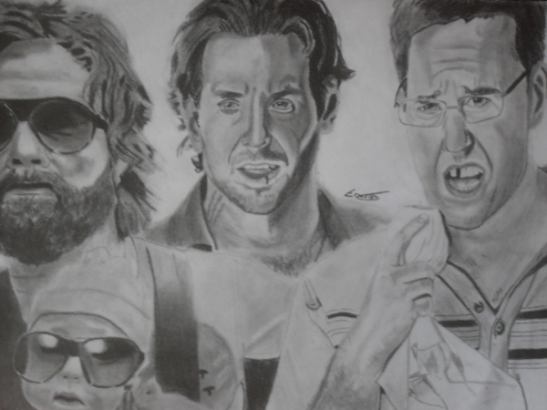 Zach Galifianakis, Ed Helms, Bradley Cooper by Erwan